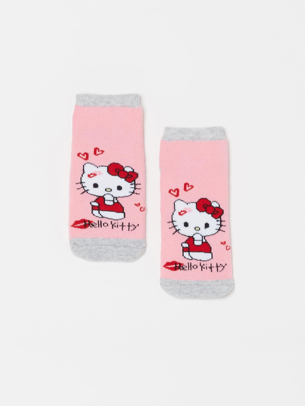 Шкарпетки рожеві в принт | 5183771