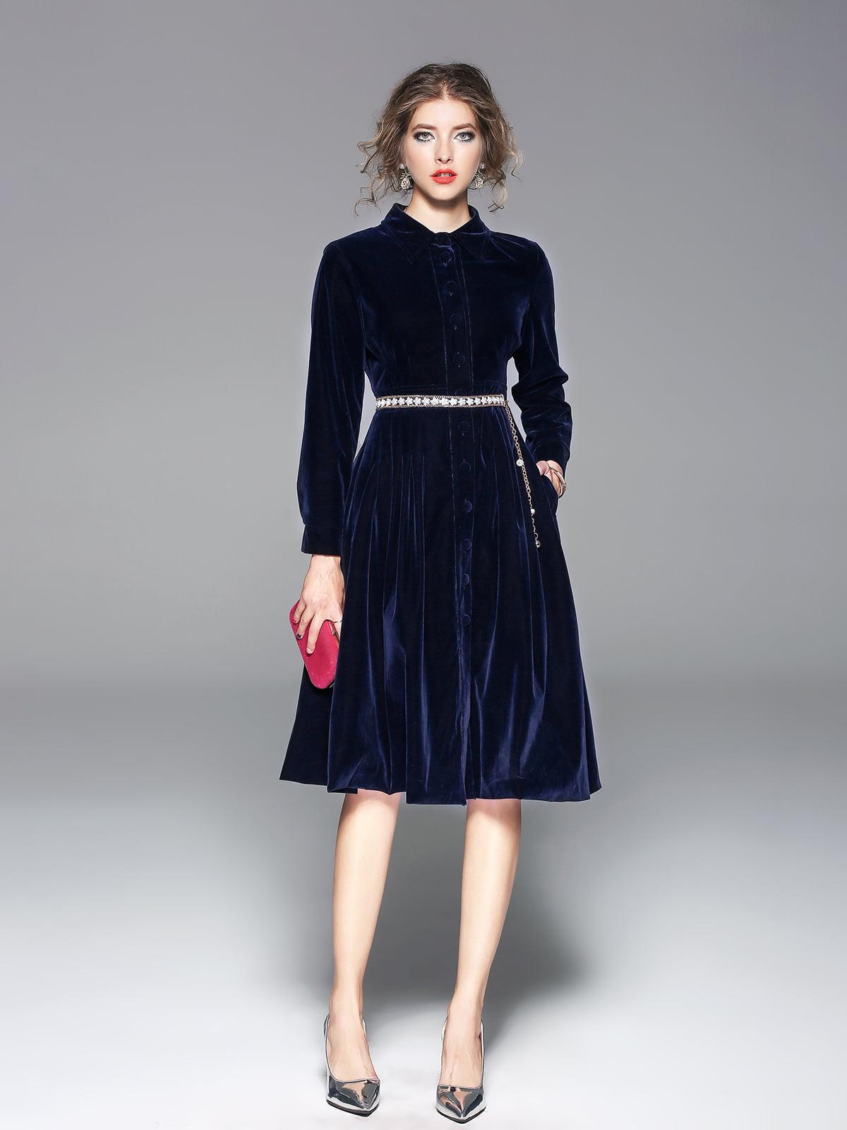 Платье синее | 5209240