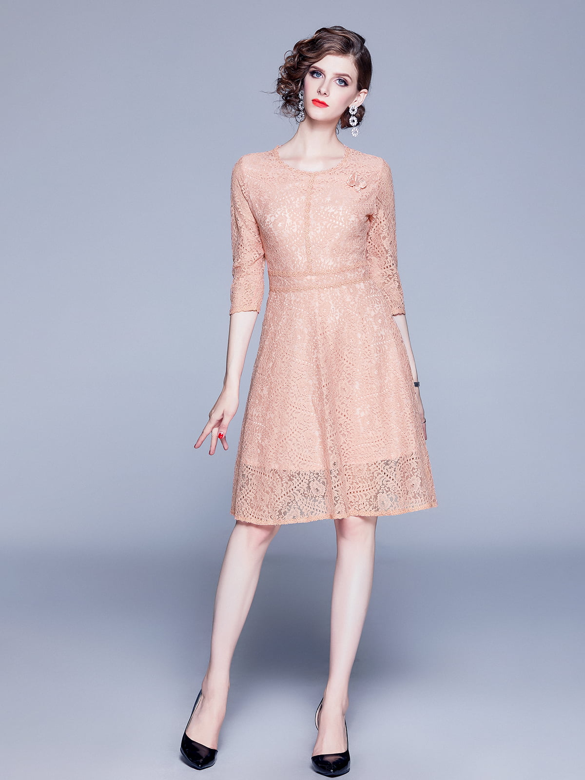 Платье бежевое   5209258