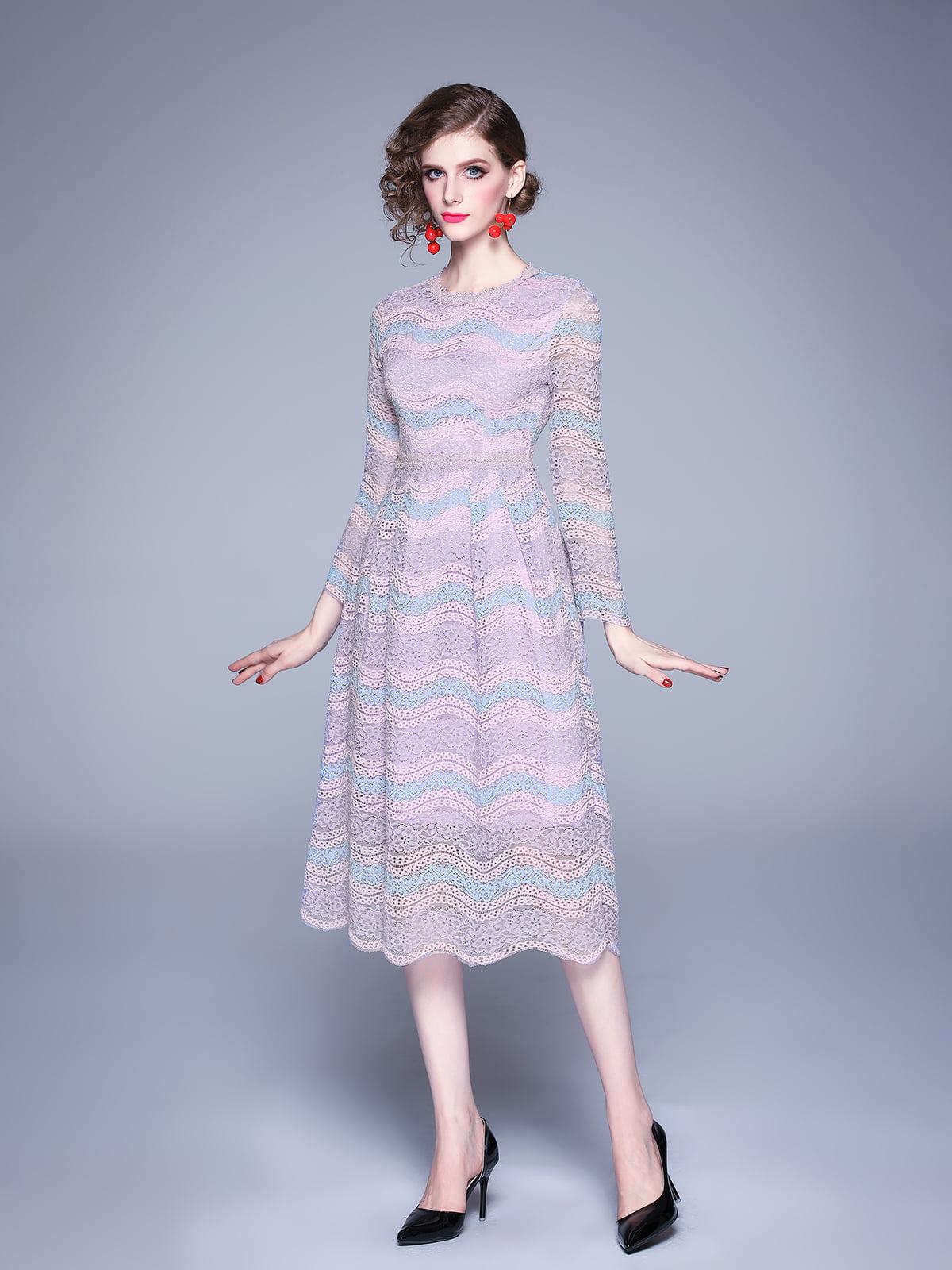 Платье сиреневое | 5209265