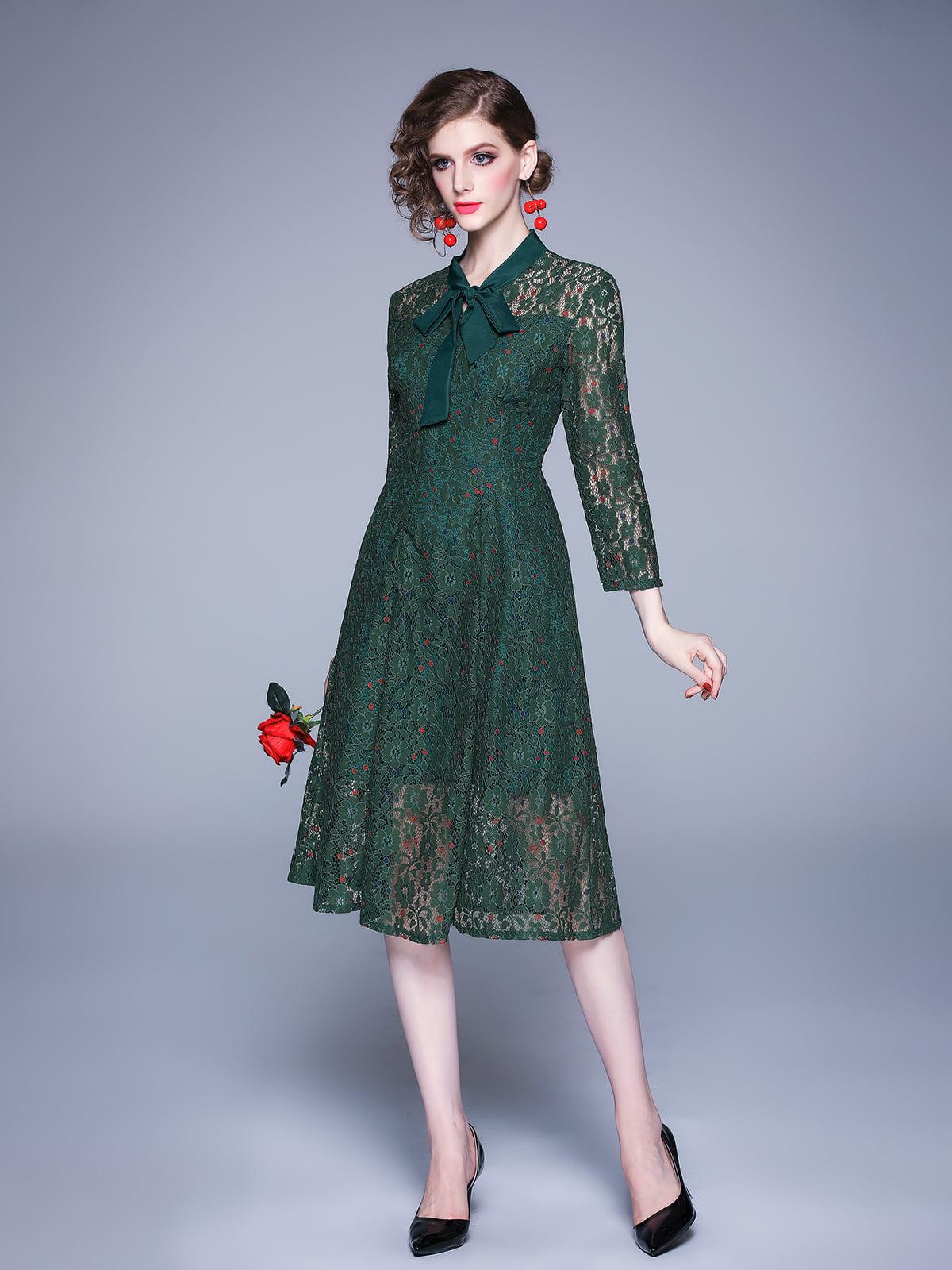 Платье зеленое | 5209273