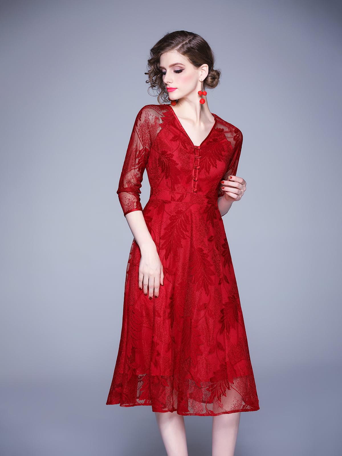 Платье красное | 5209274