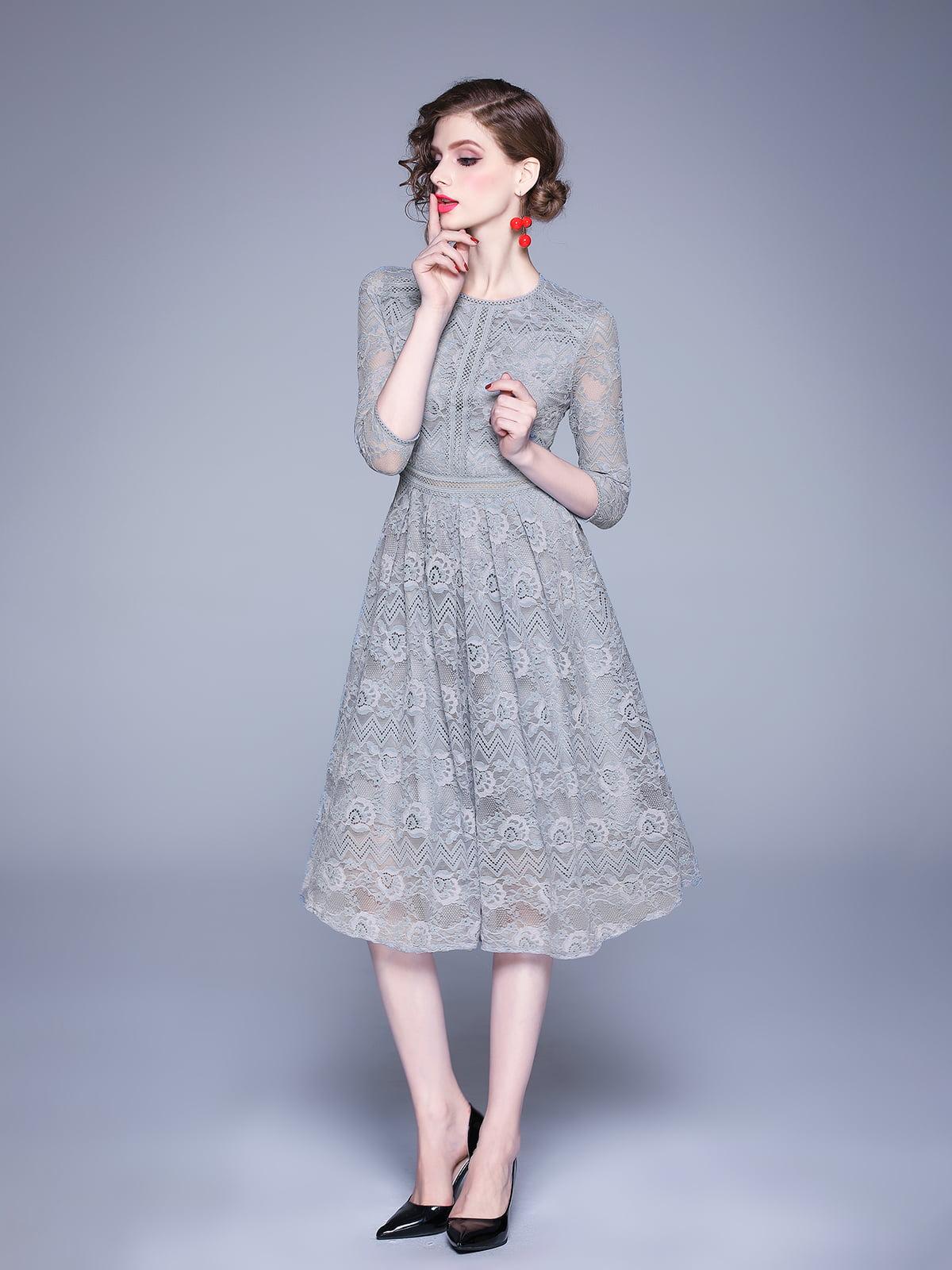 Платье серое   5209276