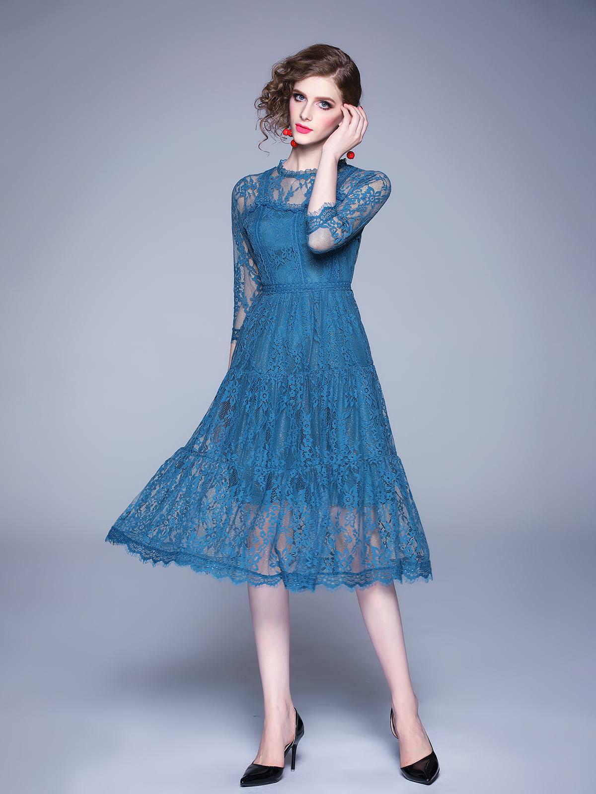 Платье голубое   5209279