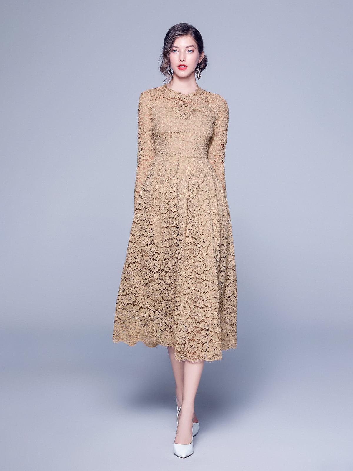 Платье бежевое | 5209297