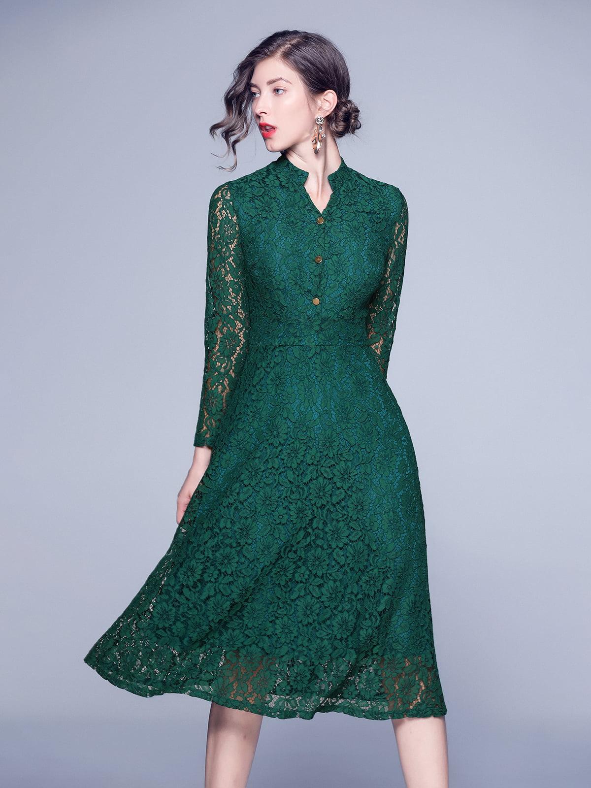Платье зеленое   5209300