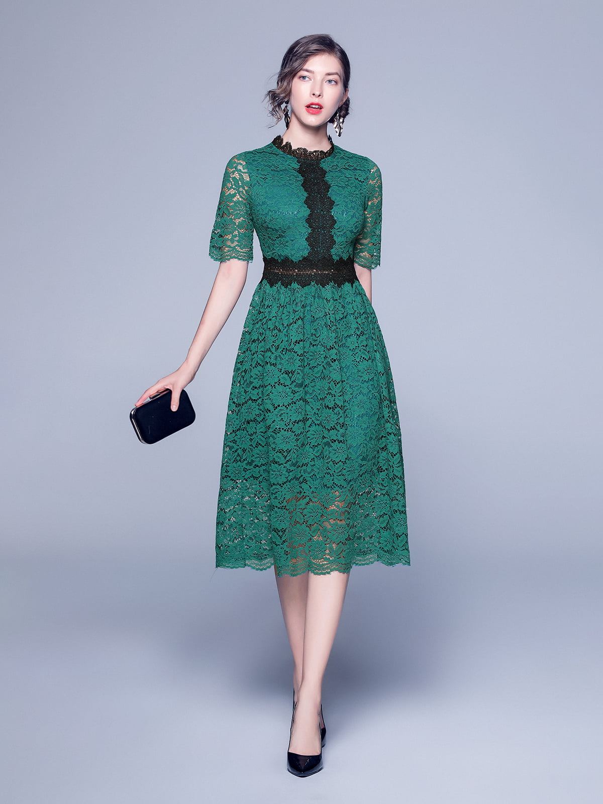 Платье зеленое   5209304