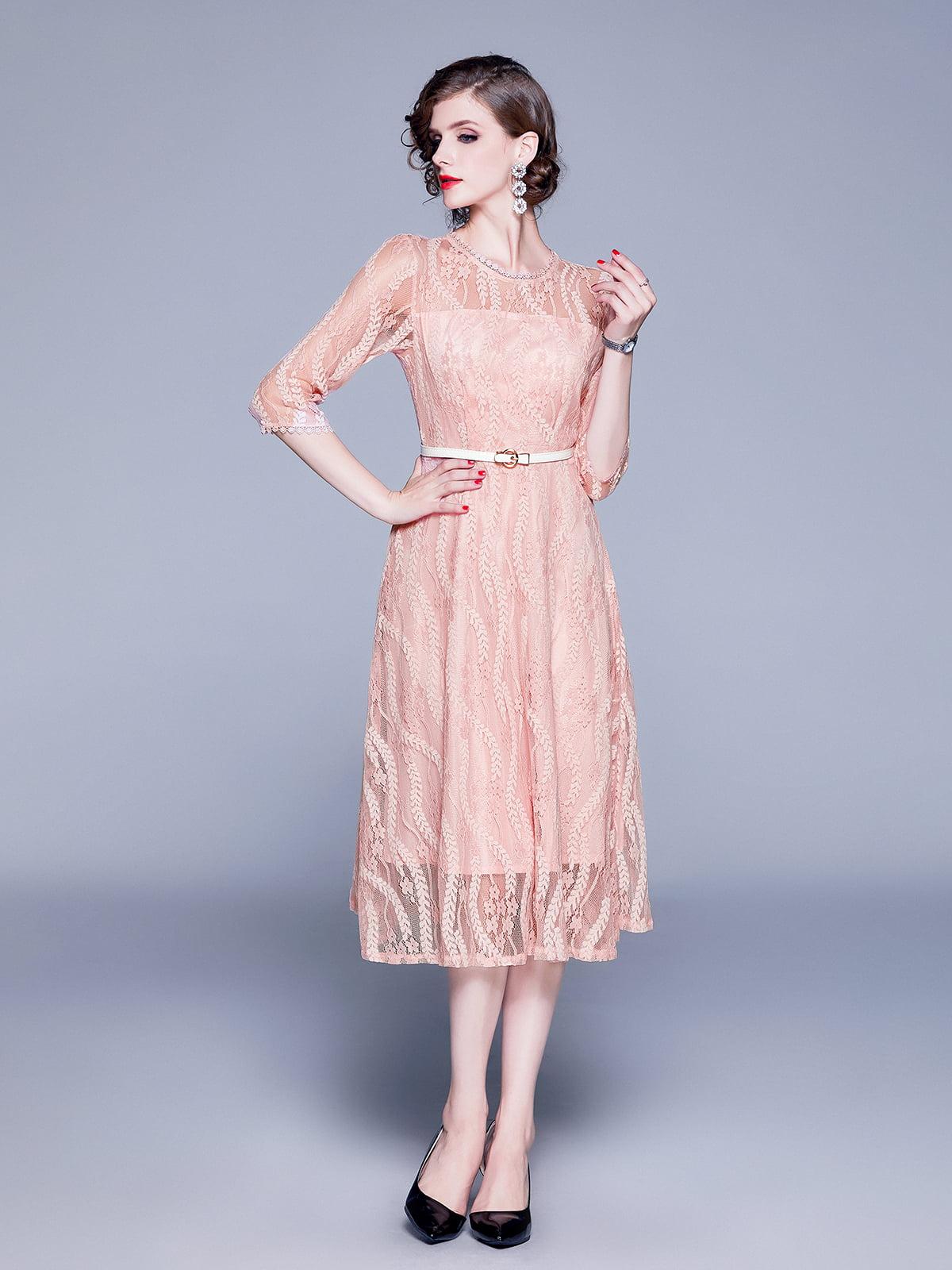 Платье розовое | 5209309