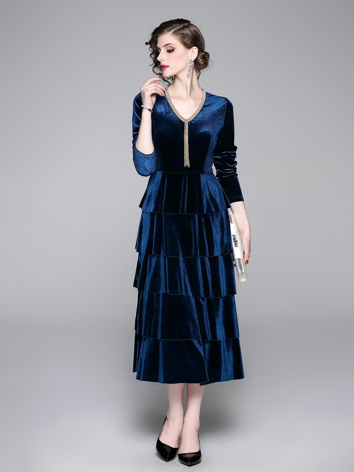 Платье синее   5209323