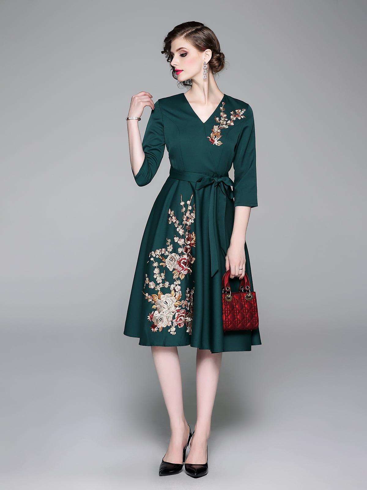 Платье зеленое   5209339