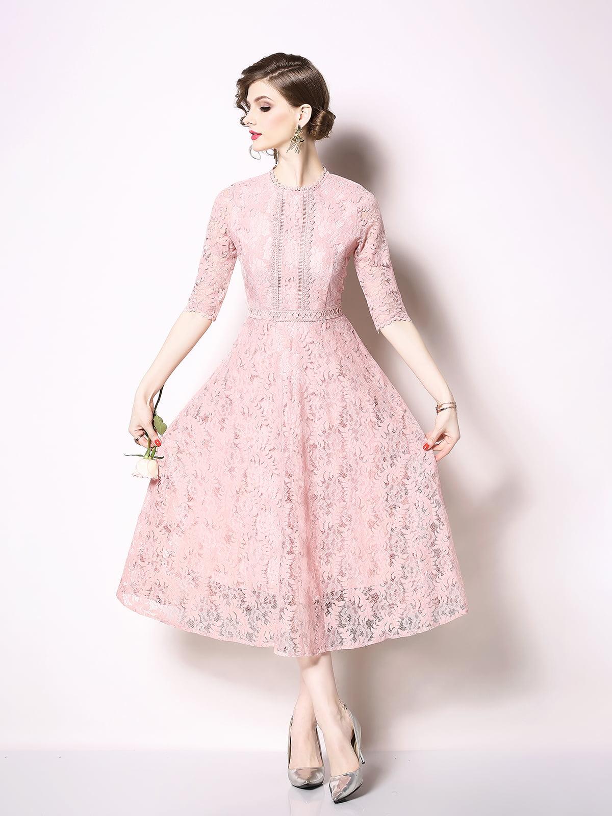 Платье розовое | 5209350
