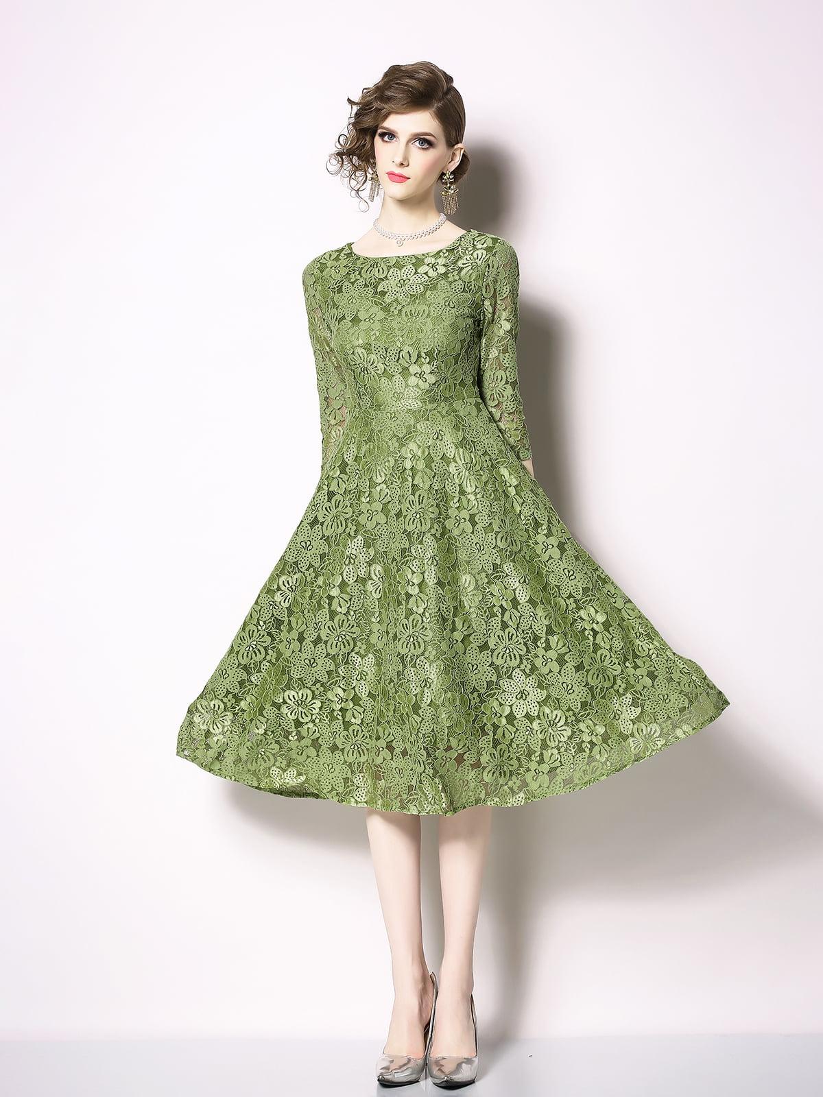 Платье зеленое   5209355
