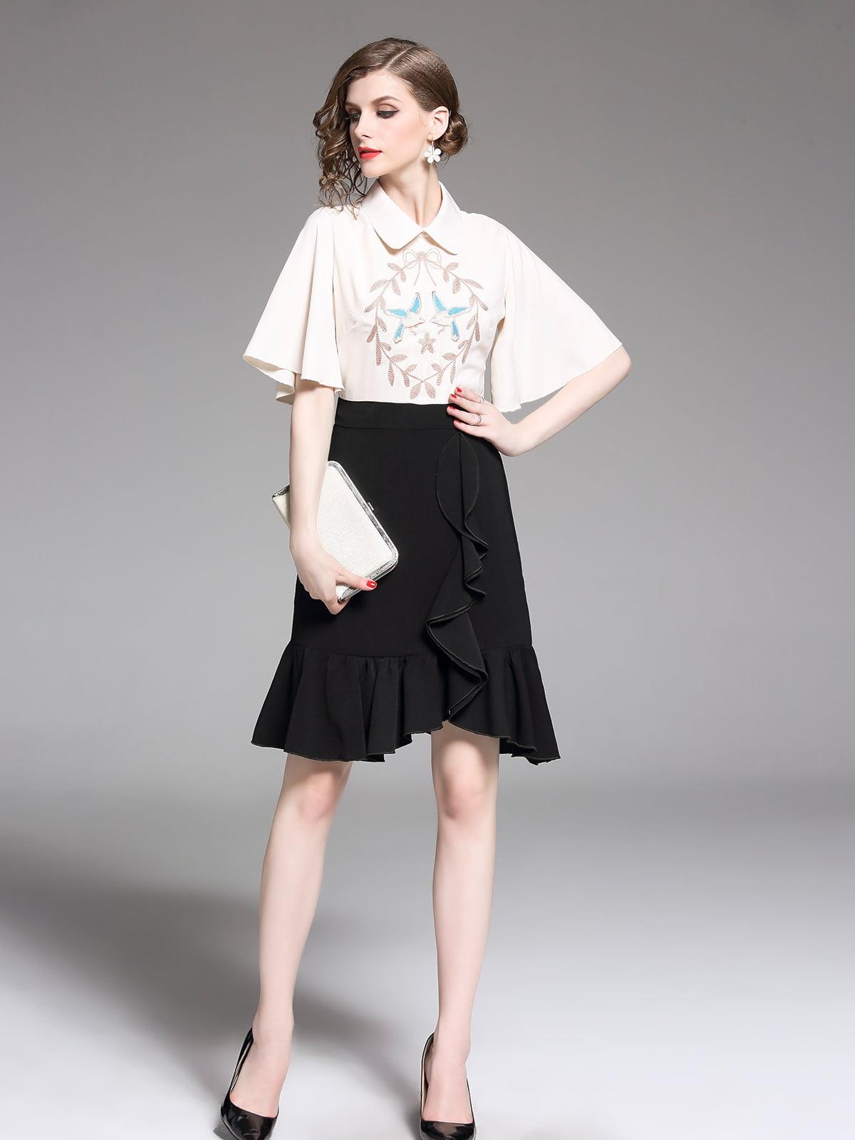Платье черно-белое | 5209369