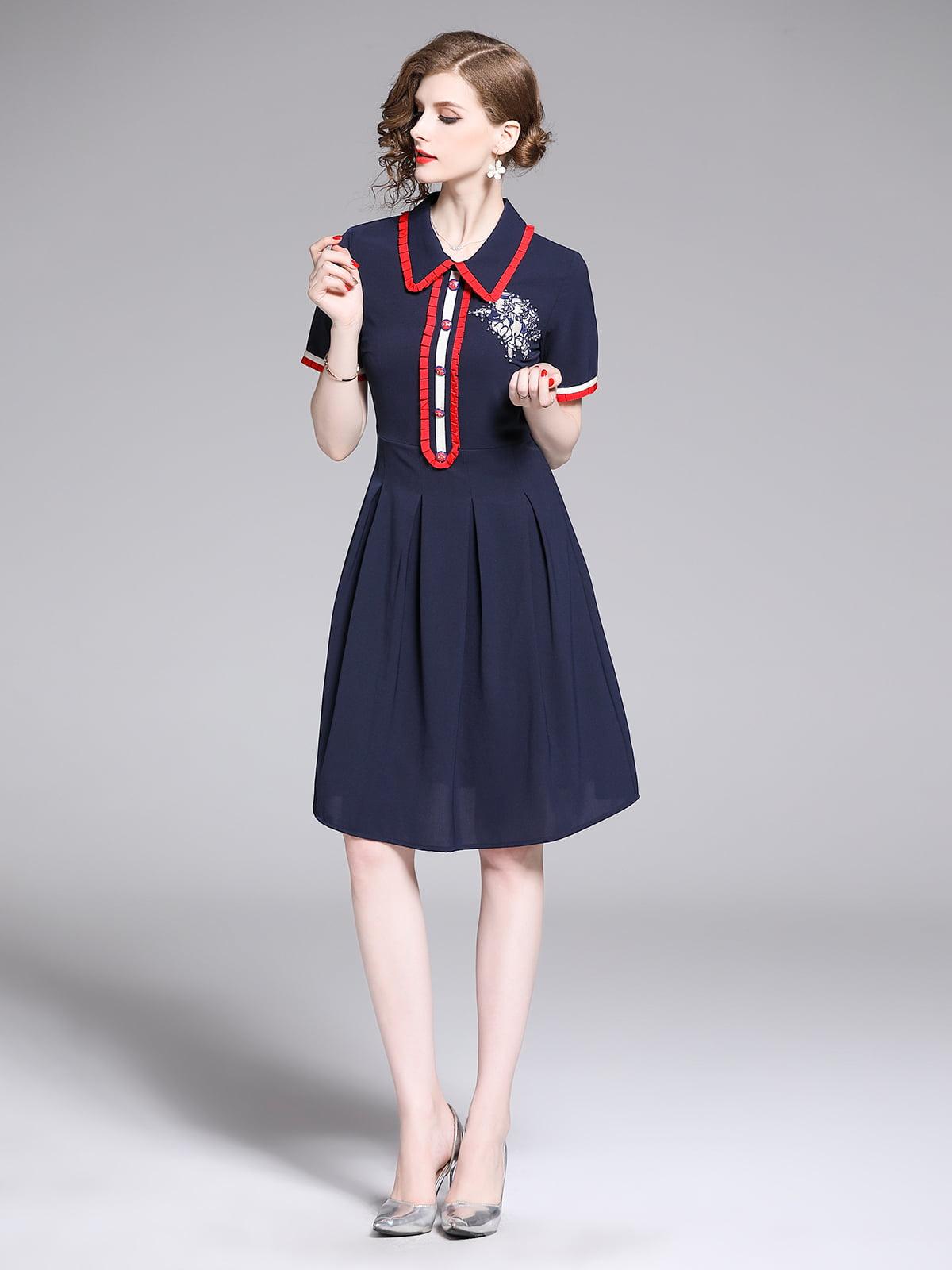 Платье синее | 5209382