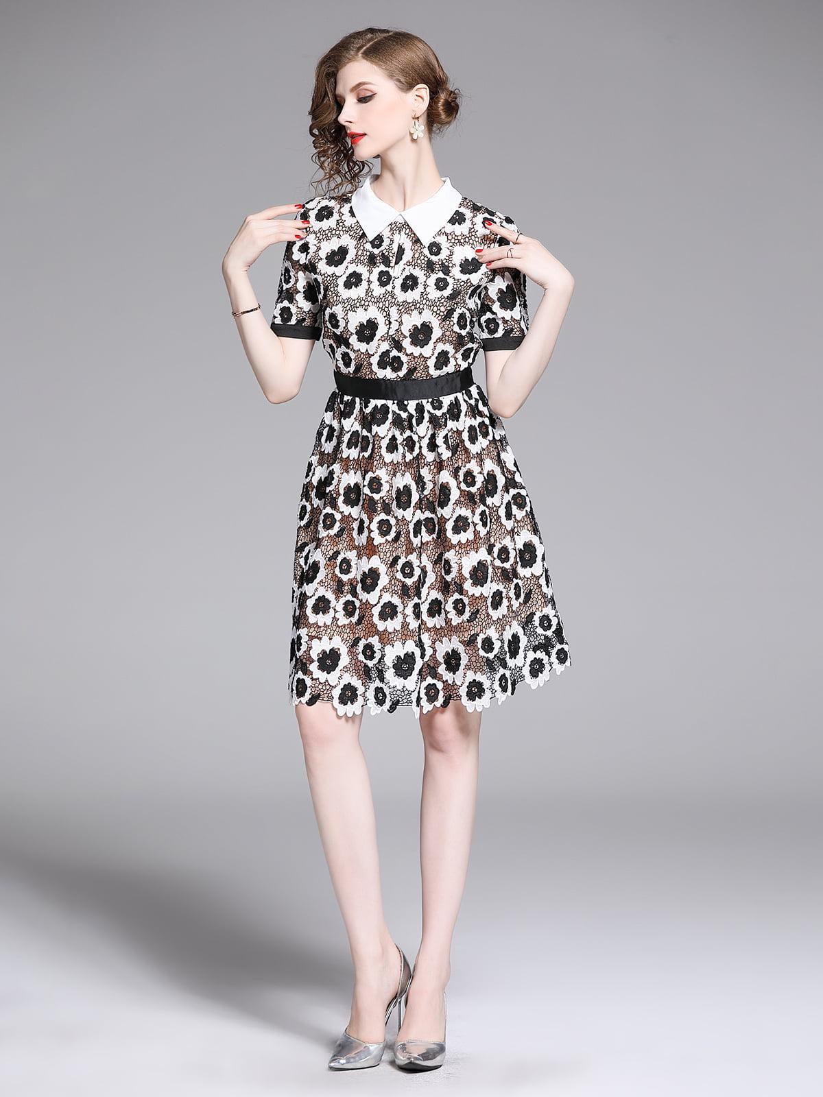 Платье в цветочный принт | 5209383