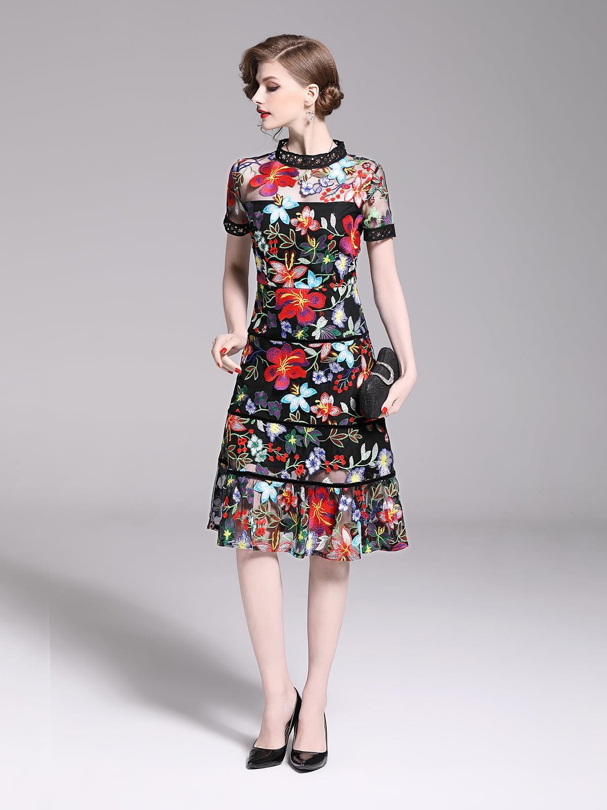 Платье в цветочный принт | 5209410