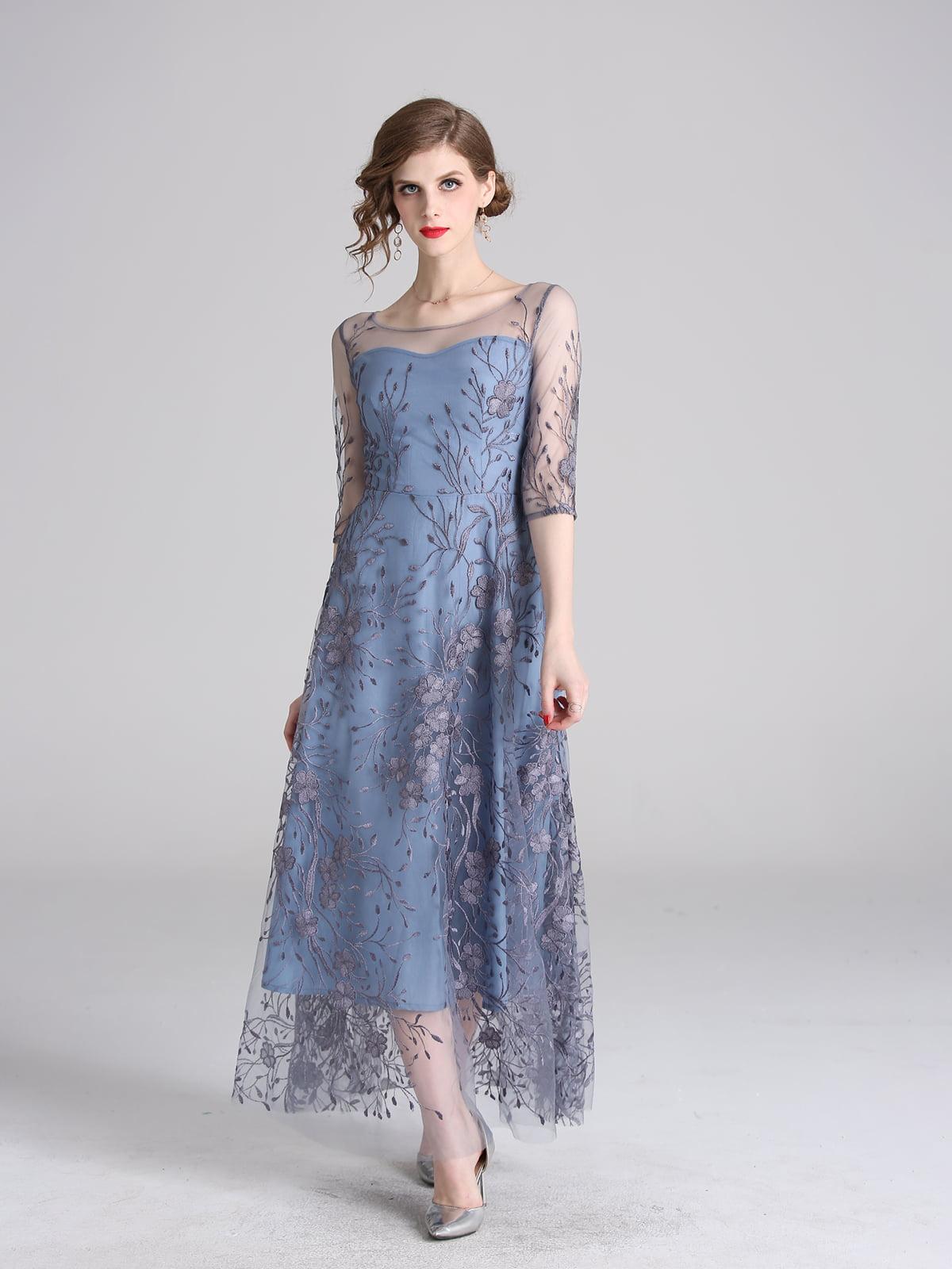 Платье голубое   5209424