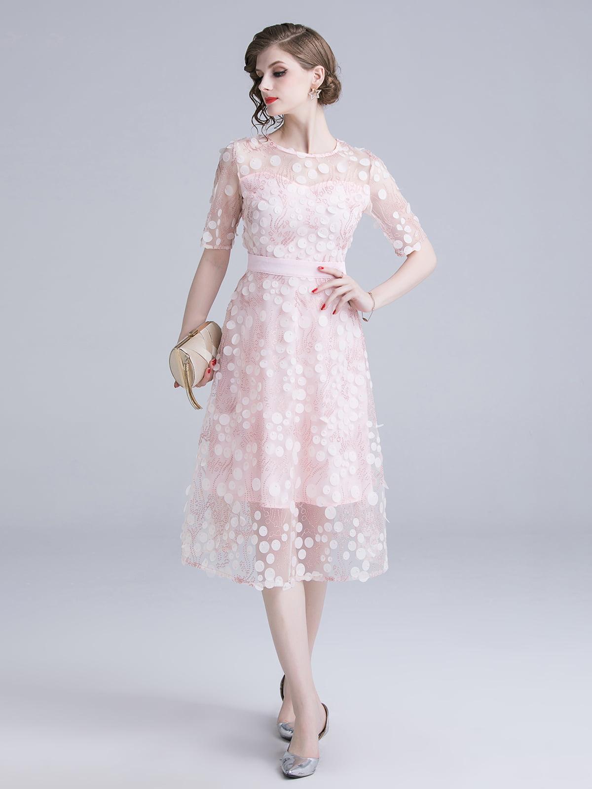 Платье розовое | 5209430