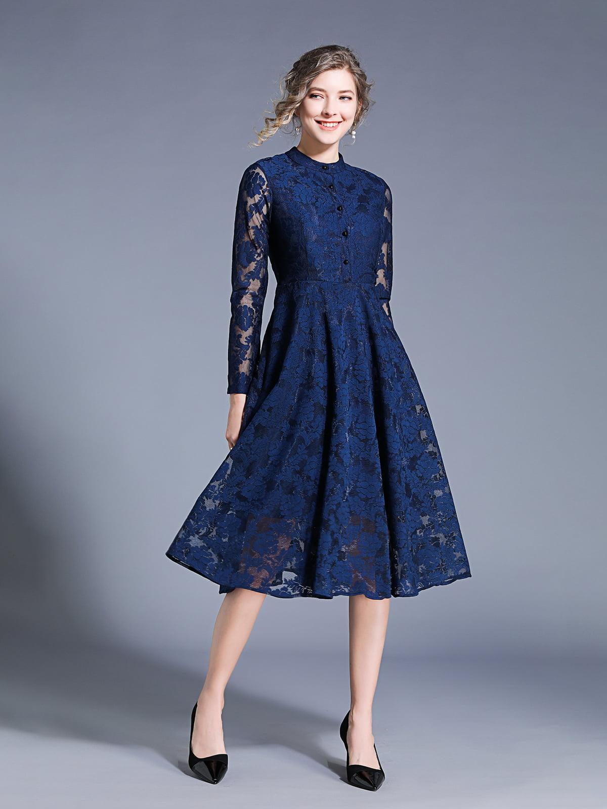 Платье синее | 5209475