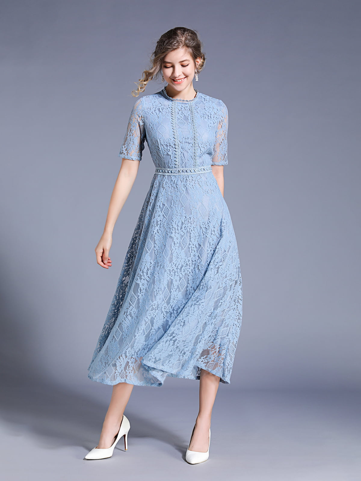 Платье голубое | 5209477