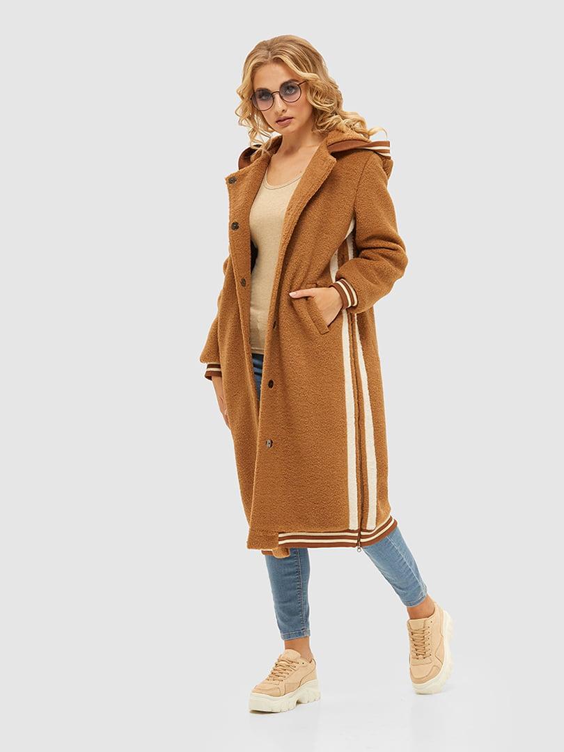 Пальто карамельного цвета   5209522