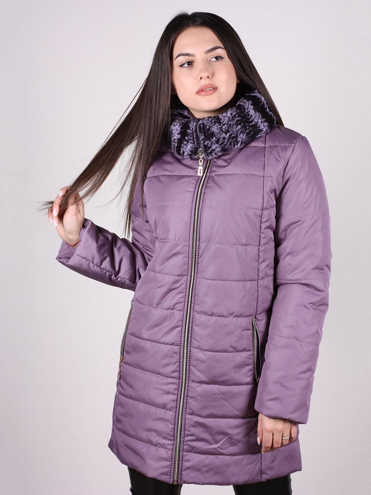 Пальто сиреневого цвета   5205115