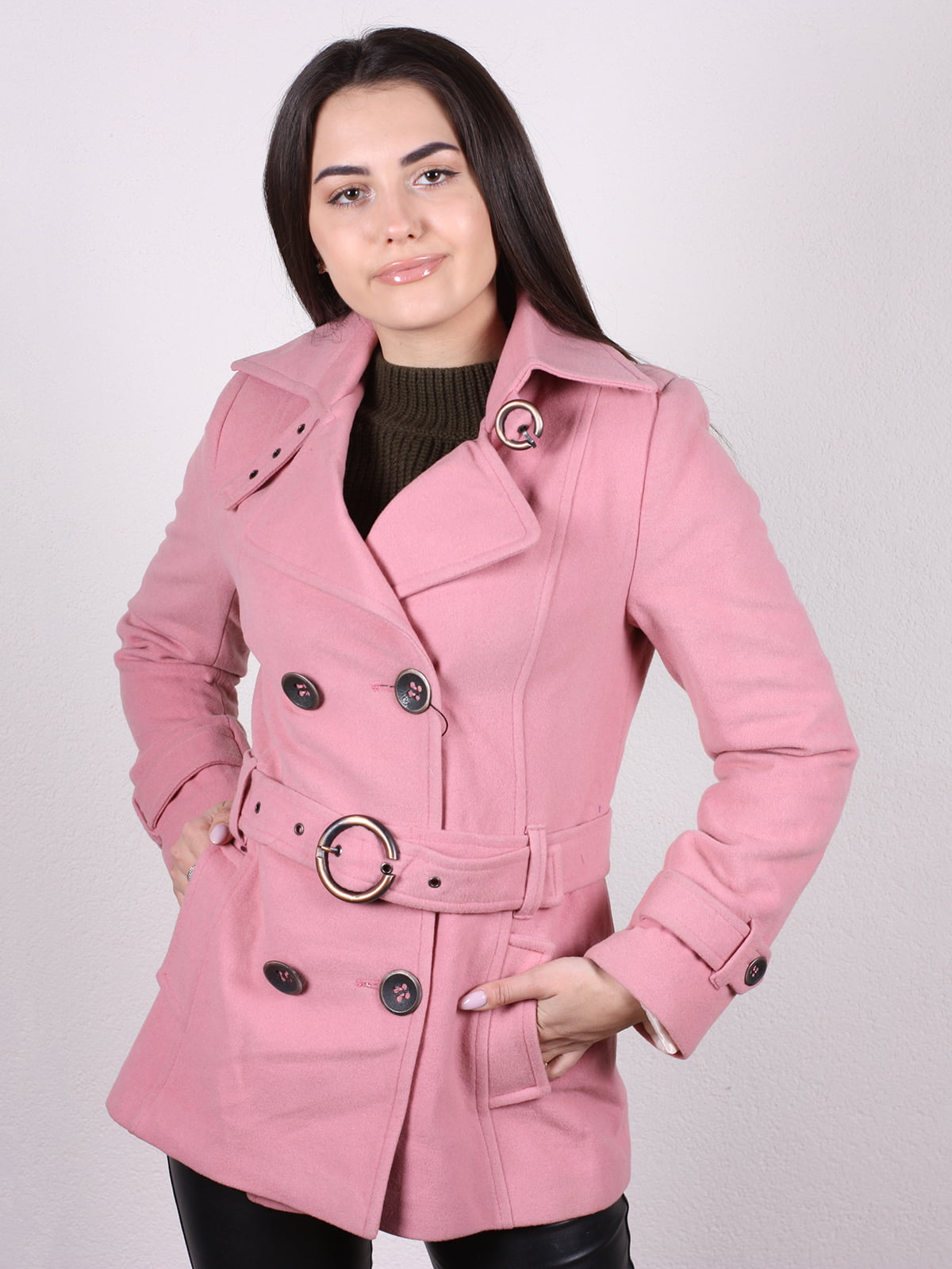 Пальто розовое   5205128