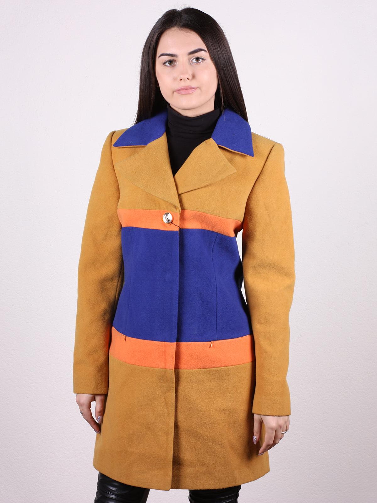 Пальто трехцветное   5205145