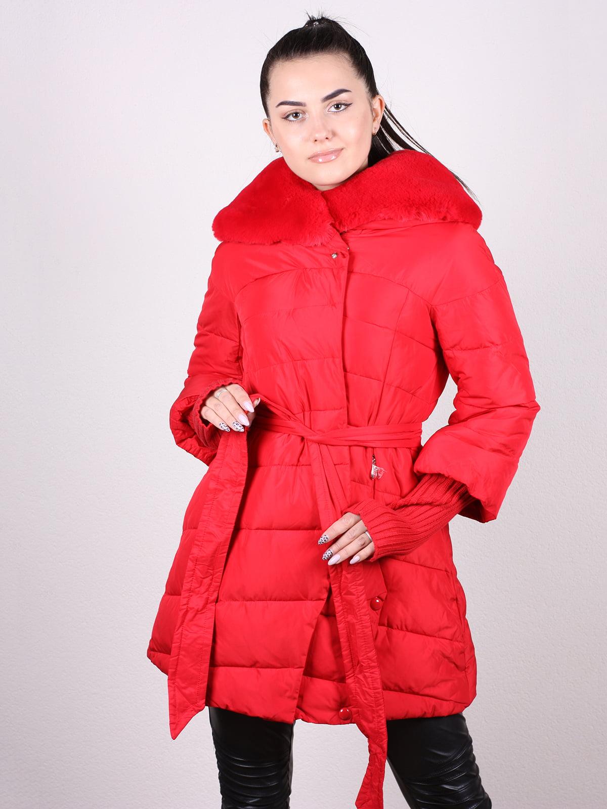 Пальто красное | 5205219