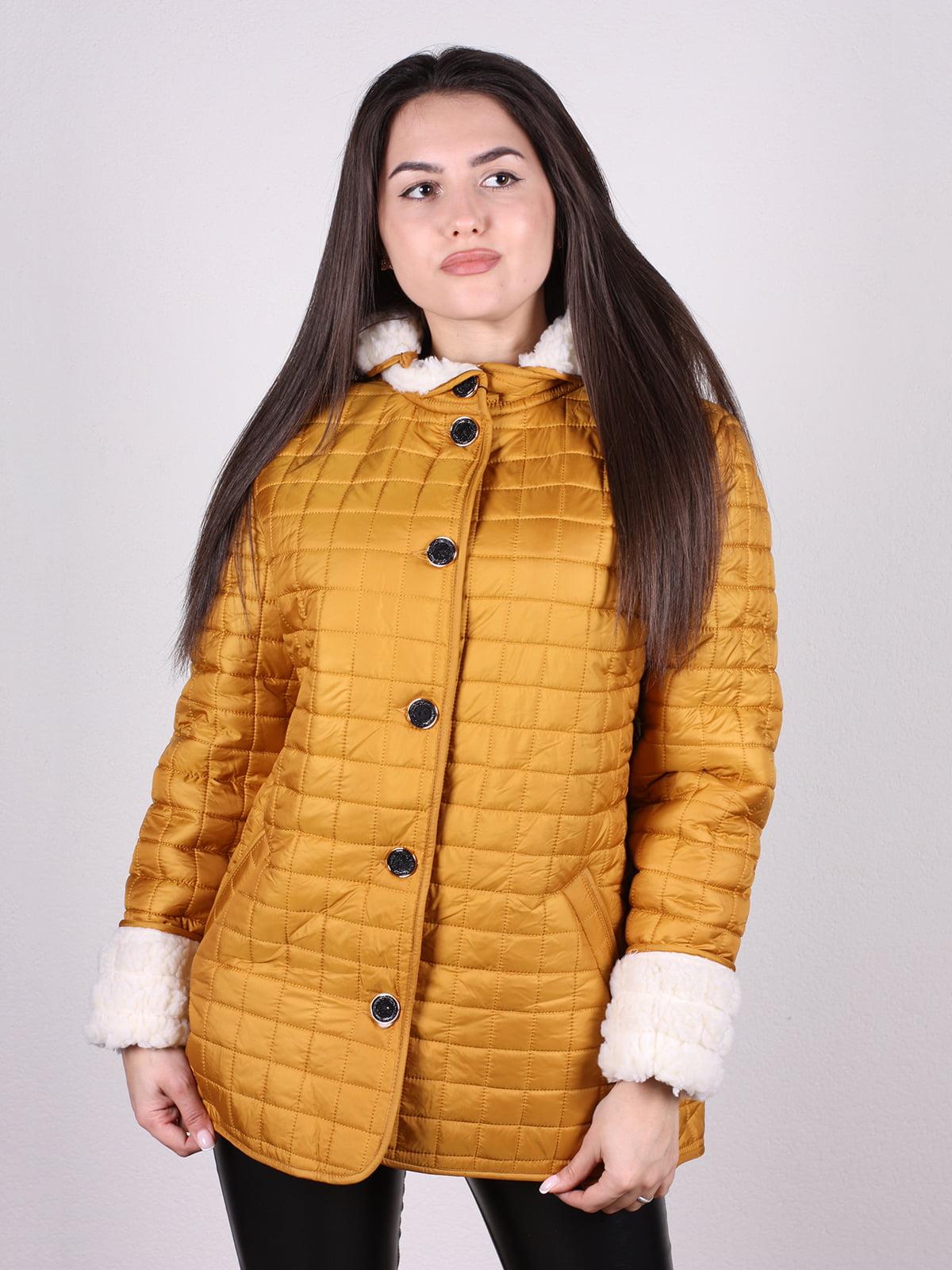 Куртка горчичного цвета | 5205253