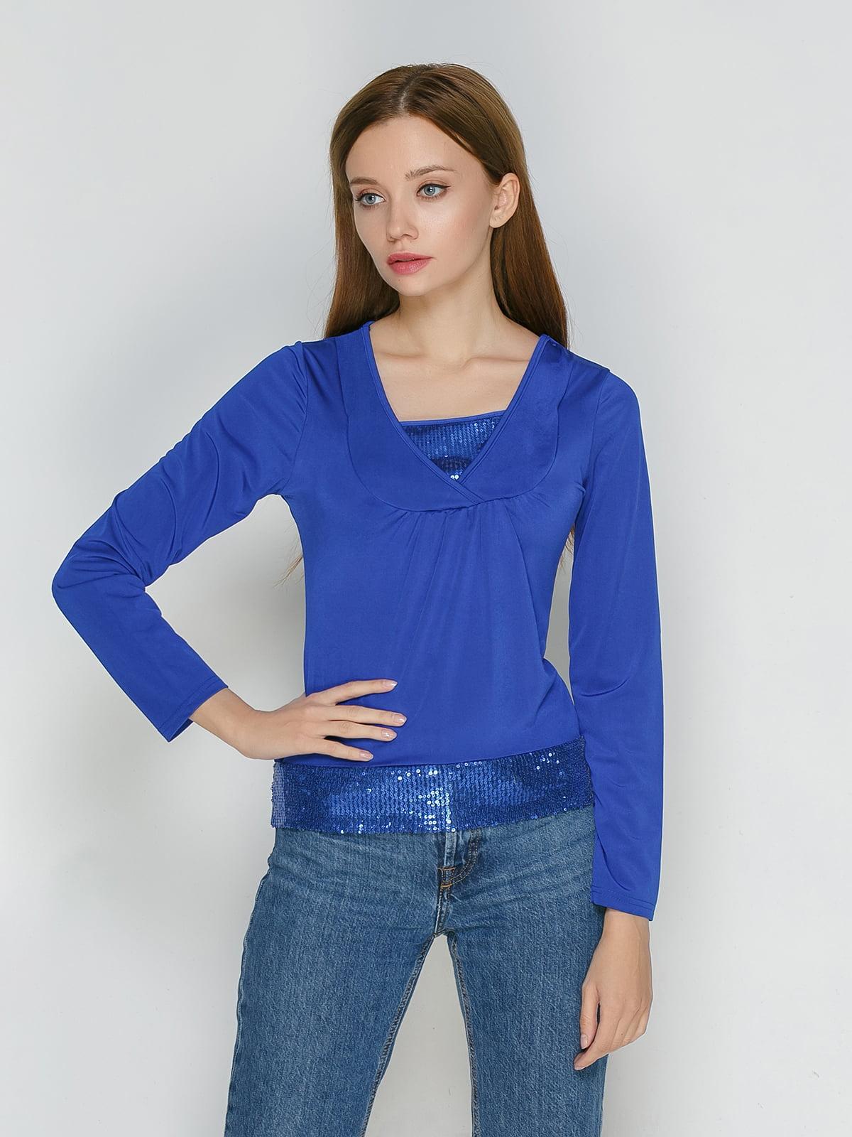 Блуза синяя | 5204364