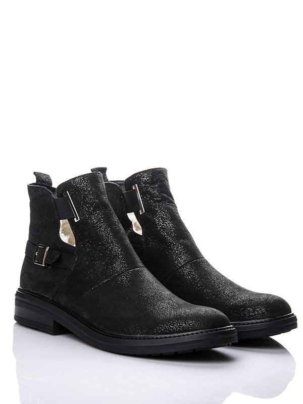 Ботинки черные с блеском | 4643286