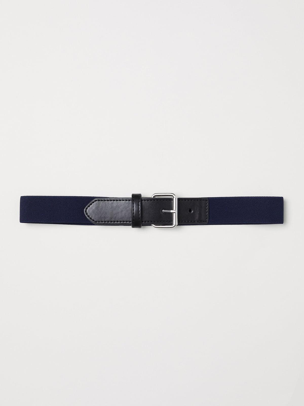 Ремень черно-синий | 5210543