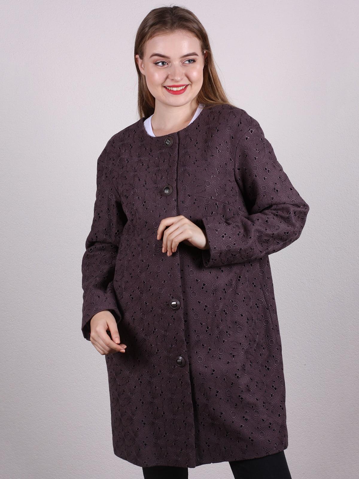 Пальто коричневое   5205084