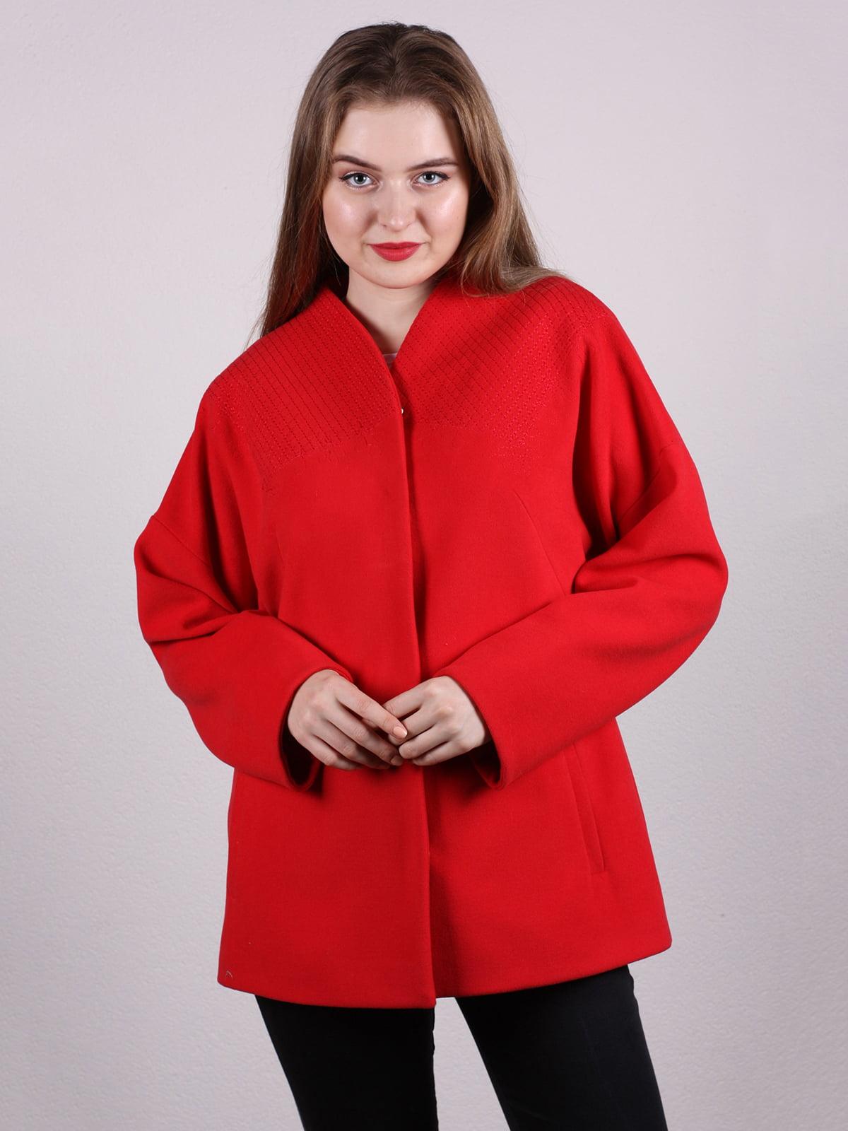 Пальто красное | 5205093