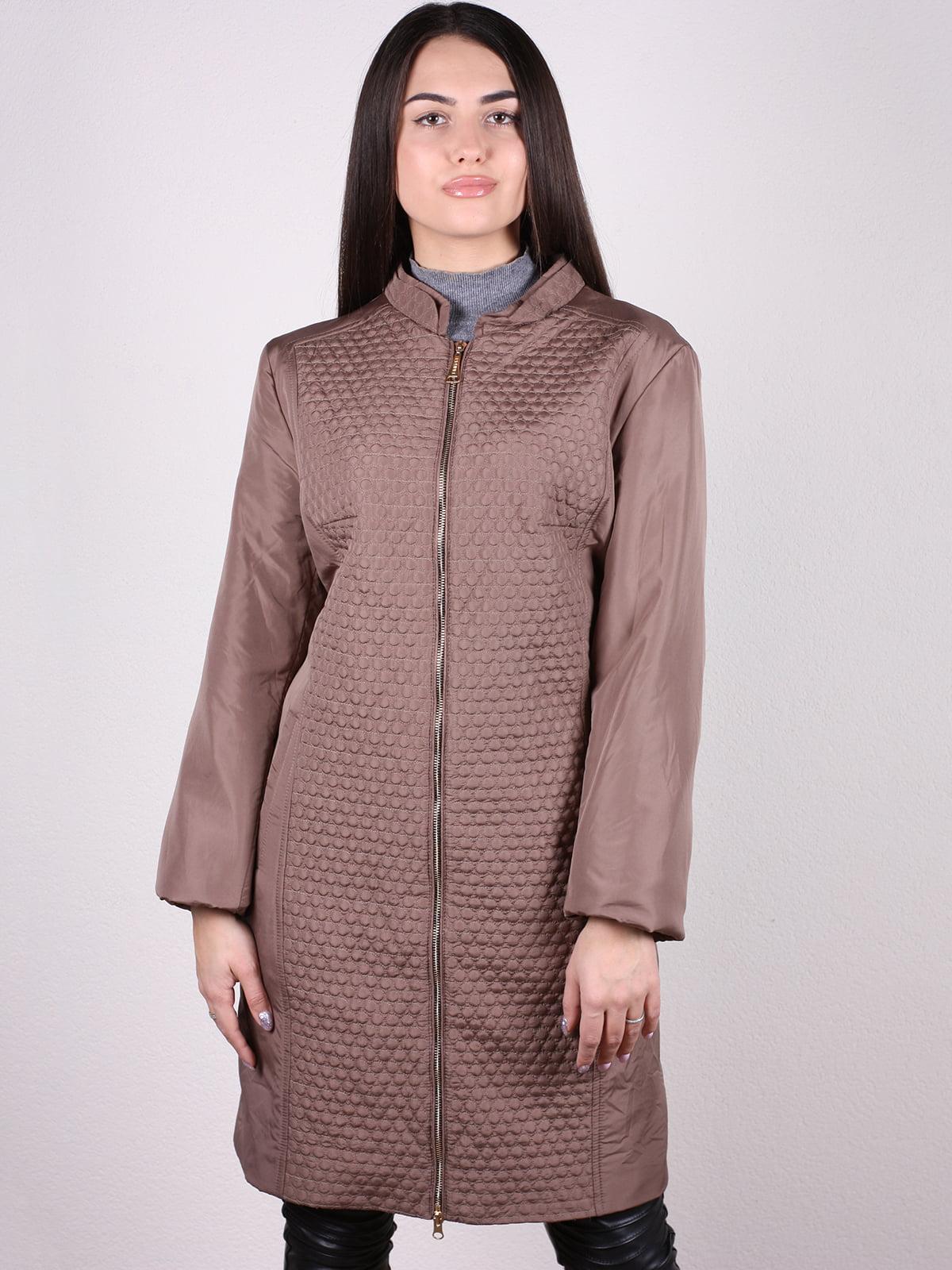 Пальто кофейного цвета   5205144