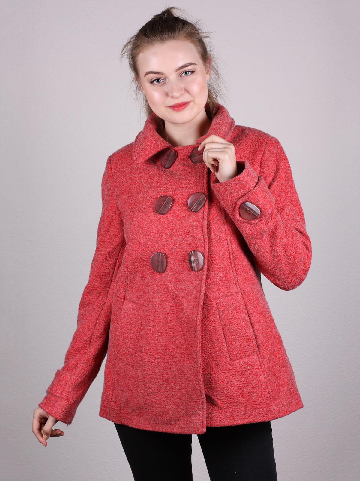 Пальто кораллового цвета   5205159