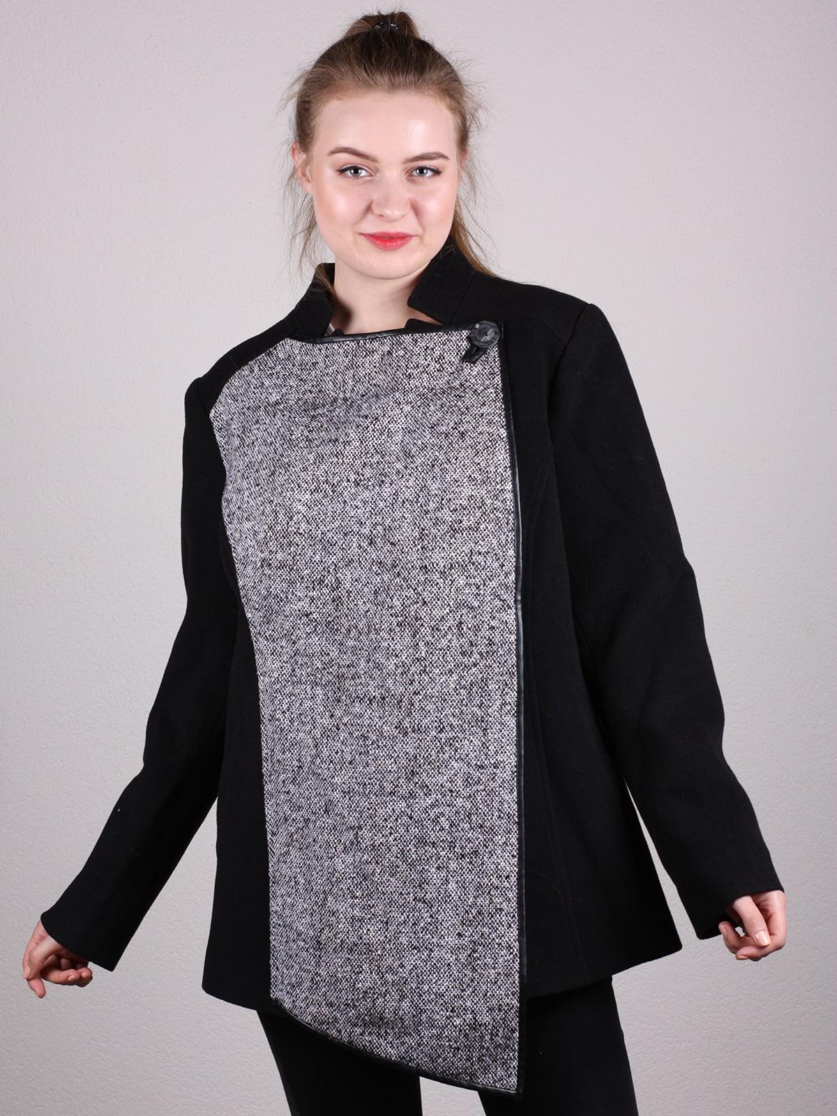 Пальто черно-серое | 5205164