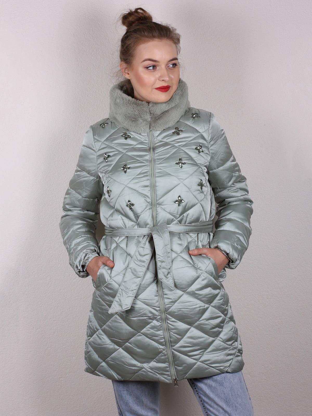 Пальто мятного цвета | 5205173