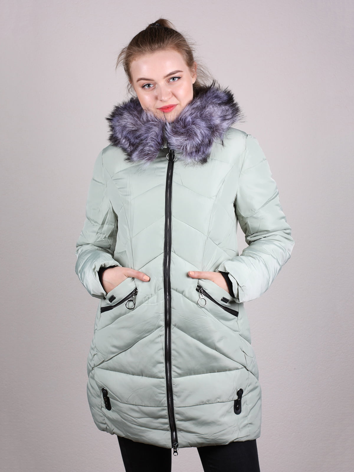 Пальто оливкового цвета | 5205265