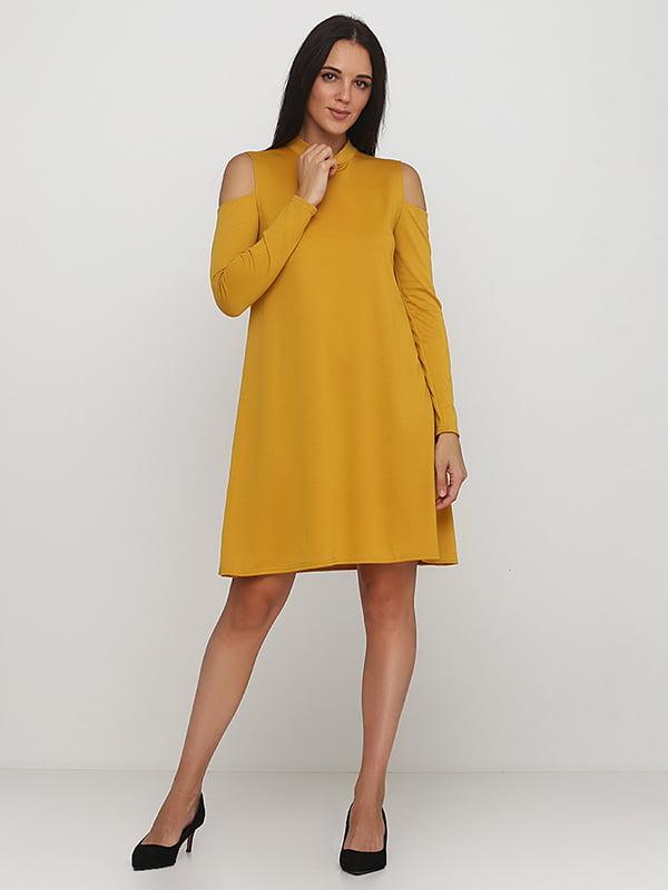 Платье горчичного цвета   5214341