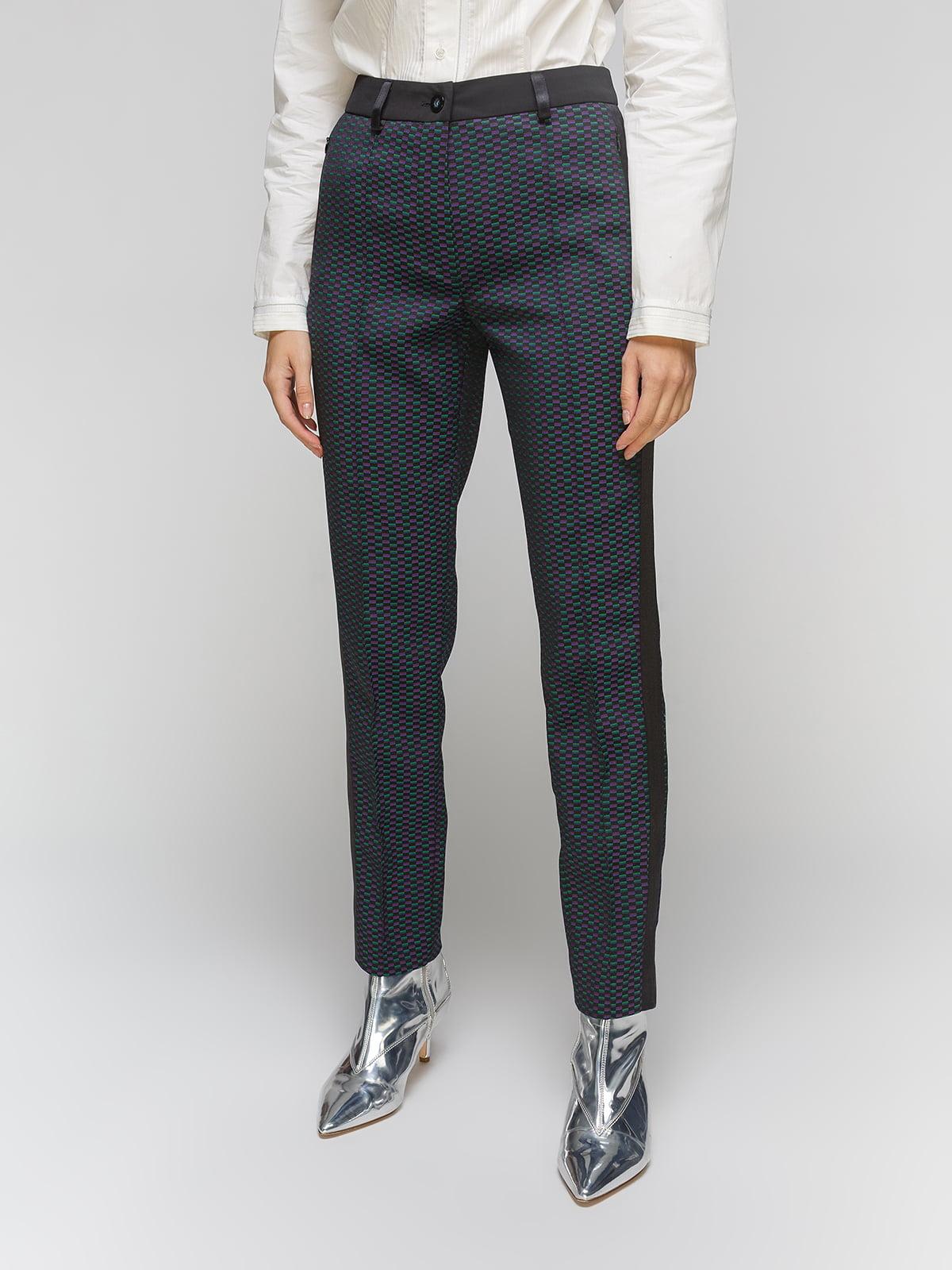 Штани сині в принт | 5213550