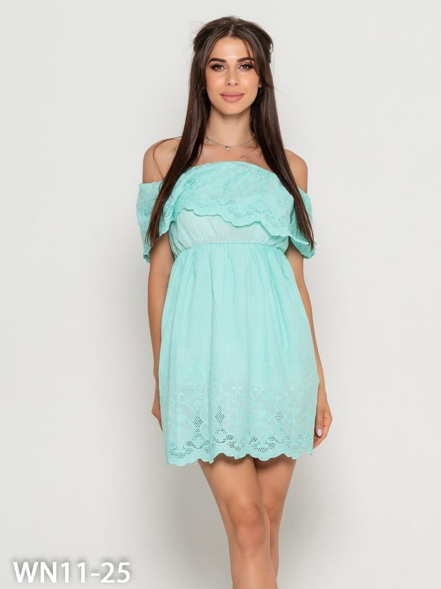 Платье цвета мяты | 5196385