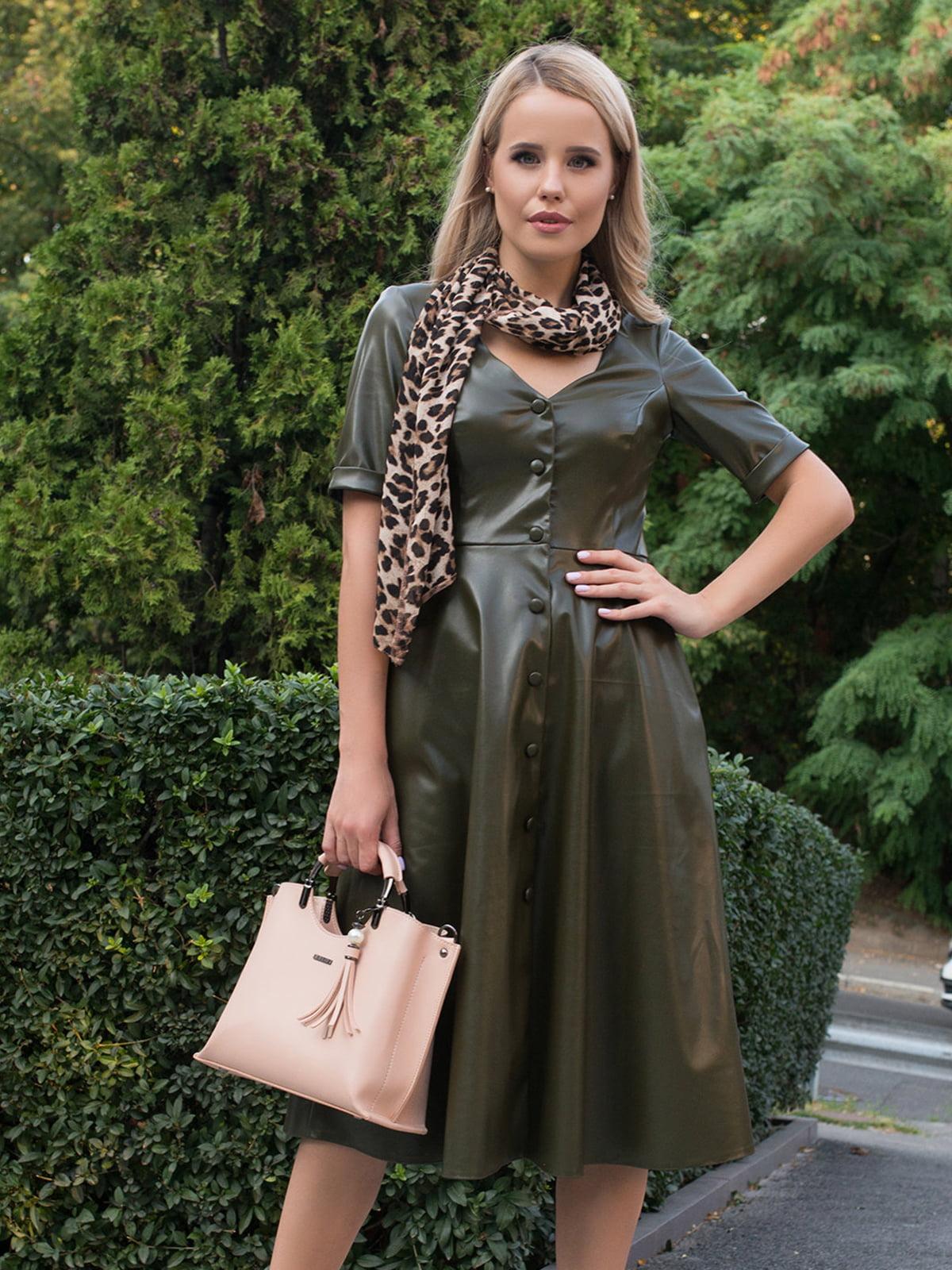 Сукня кольору хакі | 5203412