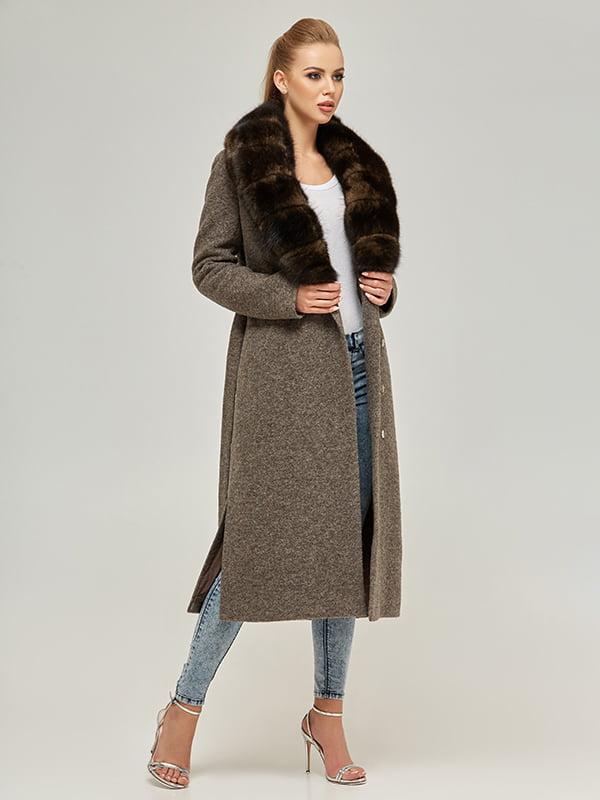 Пальто кольору капучино | 5216061