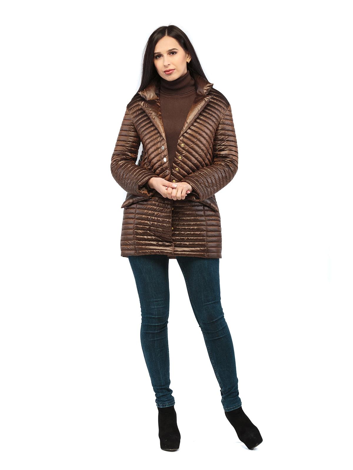 Куртка шоколадного кольору | 5216141