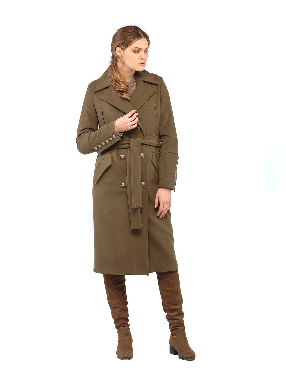 пальто цвета хаки   5216163