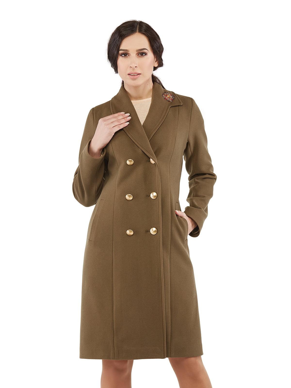 Пальто кольору хакі | 5216171