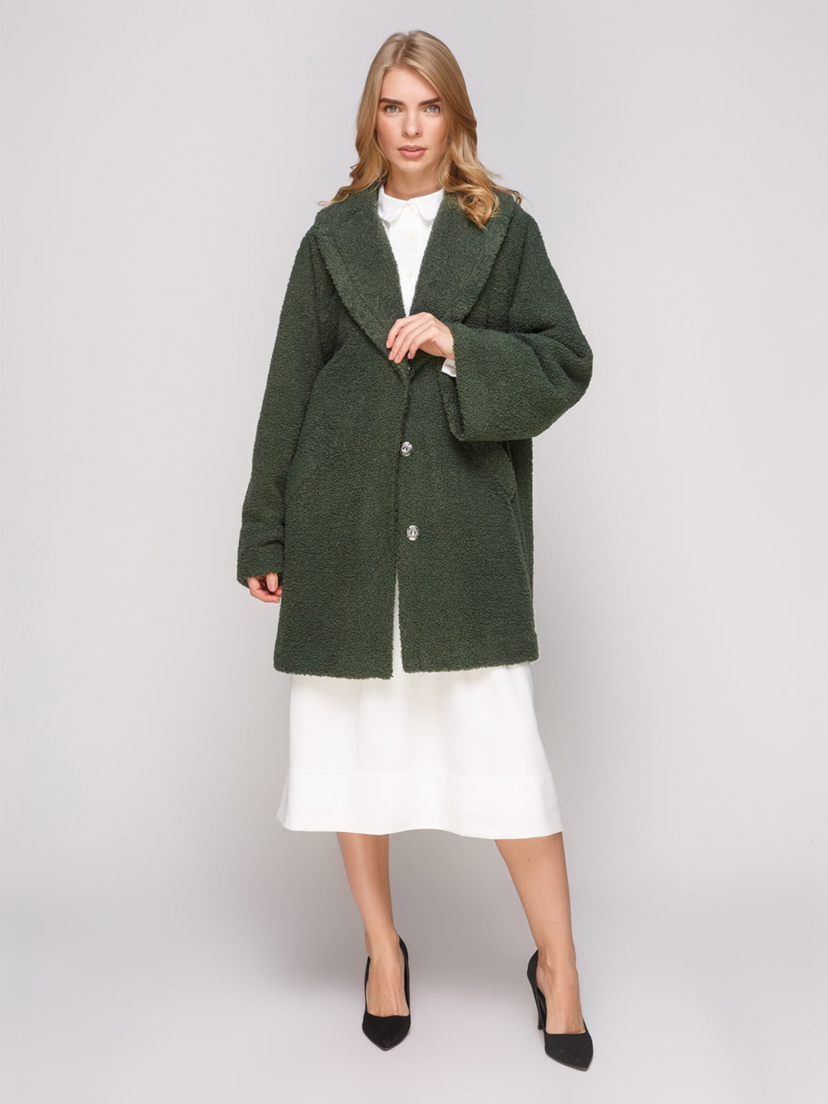 Пальто зеленое | 5213148