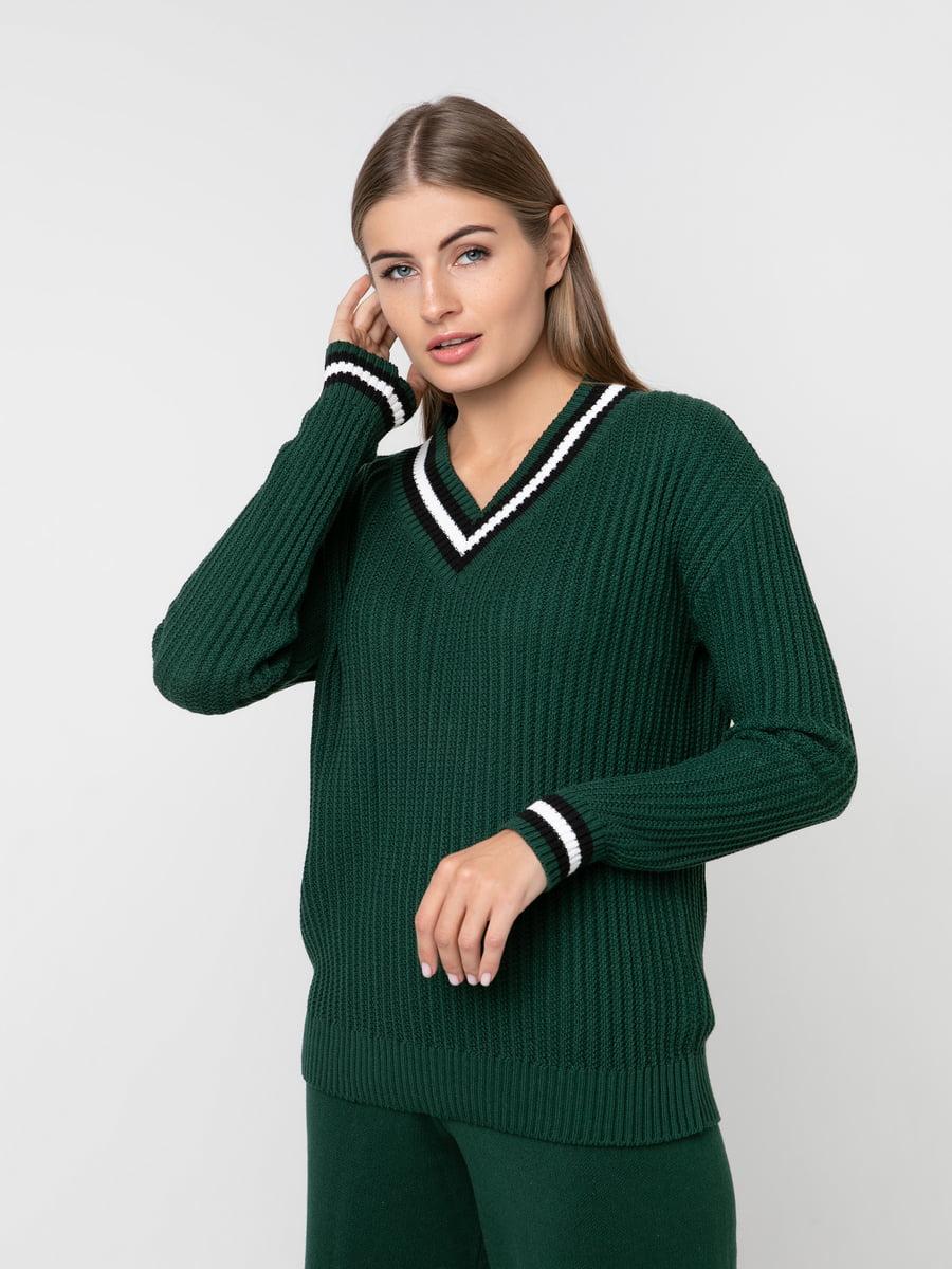 Джемпер темно-зелений | 5217204